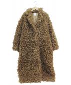 AMERI(アメリヴィンテージ)の古着「POODLE ECO FUR COAT」|ベージュ