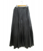 UN3D.(アンスリード)の古着「オリガミプリーツワイドパンツ」|ブラック