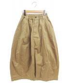HARVESTY(ハーベスティー)の古着「コットンチノクロスサーカススカート」|ベージュ