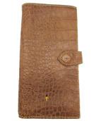 HENRY BEGUELIN(ヘンリーベグリン)の古着「クロコレザーウォレット」|ベージュ