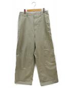 AURALEE(オーラリー)の古着「WASHED FINX CHINO WIDE PANTS」|ベージュ