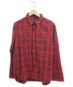 Stevenson Overall Co.(スティーブンソンオーバーオール)の古着「シャツ」|レッド