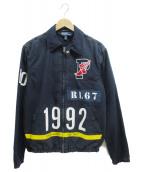 POLO RALPH LAUREN(ポロラルフローレン)の古着「スタジアムインディゴジャケット」|インディゴ