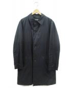 BURBERRY BLACK LABEL(バーバリーブラックレーベル)の古着「ライナー付ステンカラーコート」|ネイビー