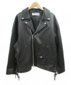 LEGENDA(レジェンダ)の古着「ダブルライダースジャケット」 ブラック