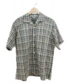 PENDLETON(ペンドルトン)の古着「リネンオープンカラーシャツ」|ベージュ