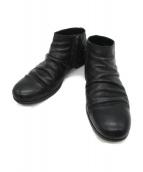 PADRONE(パドローネ)の古着「SHORT SIDE ZIP BOOTS」|ブラック