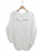 ENFOLD(エンフォルド)の古着「オフショルダーブラウス」|ホワイト