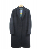 Paul Smith BLACK(ポールスミスブラック)の古着「ウールカシミヤコート」|ブラック