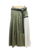 ELENDEEK(エレンディーク)の古着「プリーツスカート」|カーキ