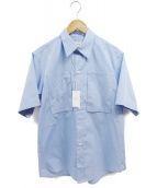 .efiLevol(エフィレボル)の古着「Big Pocket Short Sleeve Shirt」|ブルー