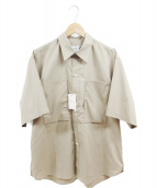 .efiLevol(エフィレボル)の古着「Big Pocket Short Sleeve Shirt」|ベージュ