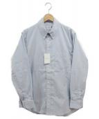 .efiLevol(エフィレボル)の古着「STRIPE THE TWO BASIC SHIRTS」|ブルー