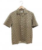 Salvatore Piccolo(サルヴァトーレ・ピッコロ)の古着「オープンカラーシャツ」 ブラウン
