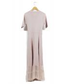 EmiriaWiz(エミリアウィズ)の古着「裾切り替えニットワンピース」|ピンク