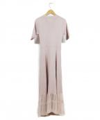 EmiriaWiz(エミリアウィズ)の古着「裾切り替えニットワンピース」 ピンク