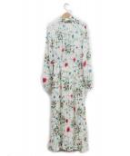 EmiriaWiz(エミリアウィズ)の古着「ボウタイフラワープリーツワンピース」|マルチカラー