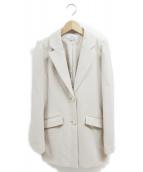 EmiriaWiz(エミリアウィズ)の古着「ミディ丈テーラードジャケット」|アイボリー