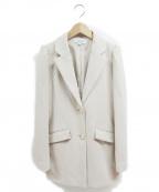 EmiriaWiz(エミリアウィズ)の古着「ミディ丈テーラードジャケット」 アイボリー