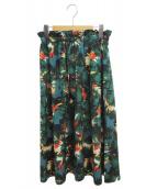 ESTNATION(エストネーション)の古着「Tropical Print Skirt」|グリーン