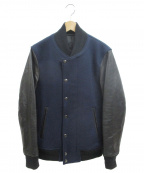 LOUNGE LIZARD(ラウンジリザード)の古着「スタジャン」|ネイビー
