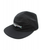 Supreme(シュプリーム)の古着「Holographic Logo Camp Cap」|ブラック