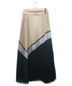 GRACE CLASS(グレースクラス)の古着「プリーツスカート」|グリーン