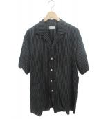 BED J.W. FORD(ベッドフォード)の古着「Print Half Sleeve Shirt」|ブラック