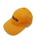 HERON PRESTON(ヘロンプレストン)の古着「ロゴ刺繍キャップ」|オレンジ