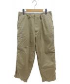 KOLOR(カラー)の古着「ガーメントダイコットン1プリーツテーパードパンツ」|ベージュ