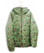 X-LARGE(エクストララージ)の古着「中綿ジャケット」|ブラック×グリーン