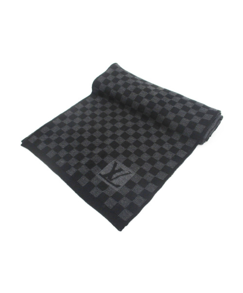 LOUIS VUITTON(ルイヴィトン)LOUIS VUITTON (ルイヴィトン) マフラー ブラック サイズ:無表記の古着・服飾アイテム
