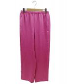 6(ROKU) BEAUTY&YOUTH(ロク ビューティアンドユース)の古着「サテンパンツ」|ピンク