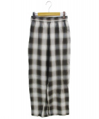 H BEAUTY&YOUTH(エイチ ビューティアンドユース)の古着「OMBRA CHECK PANTS」|ブラウン