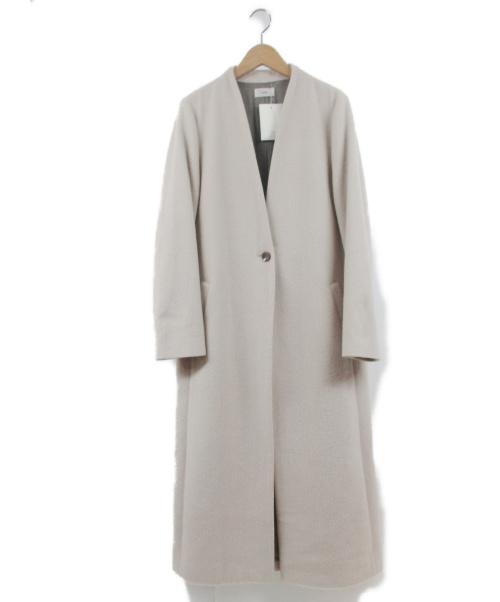IENA(イエナ)IENA (イエナ) メルトンノーカラコート アイボリー サイズ:38の古着・服飾アイテム