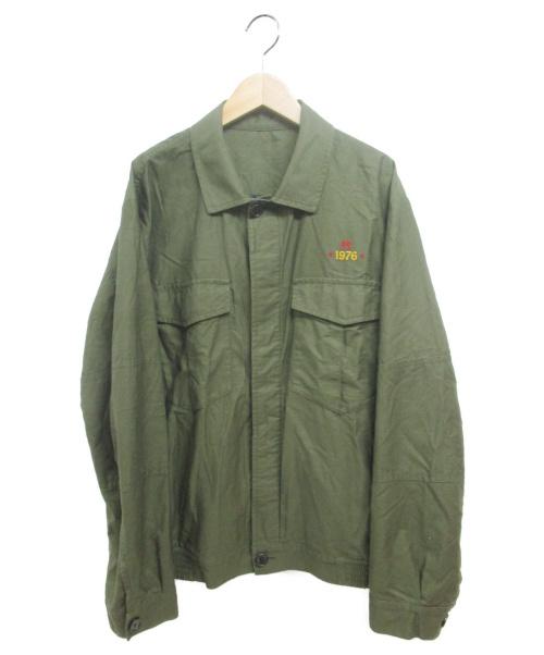 PS Paul Smith(ピーエスポールスミス)PS Paul Smith (ピーエスポールスミス) OCTOPUS EMBROIDERY BLOUZON カーキ サイズ:XLの古着・服飾アイテム