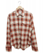 Martin Margiela 10(マルタンマルジェラ10)の古着「ウエスタンシャツ」|レッド