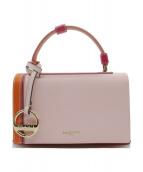 Emilio Pucci(エミリオプッチ)の古着「Pilot Mini Color-block Leather」|オレンジ