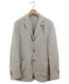 LARDINI(ラルディーニ)の古着「テーラードジャケット」|ベージュ