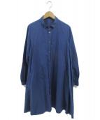 nest Robe(ネストローブ)の古着「シャツワンピース」|ブルー