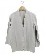 Phlannel(フランネル)の古着「ノーカラージャケット」 ベージュ