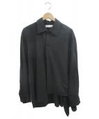 ETHOSENS(エトセンス)の古着「デザインシャツ」|ブラック