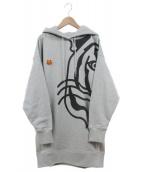 KENZO(ケンゾー)の古着「K-Tigre フードスウェットワンピース」|グレー