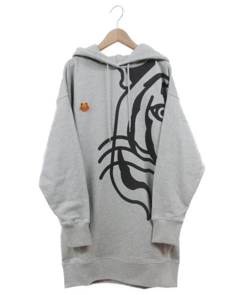 KENZO(ケンゾー)KENZO (ケンゾー) K-Tigre フードスウェットワンピース グレー サイズ:S 未使用品の古着・服飾アイテム