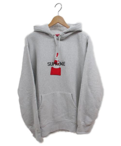 Supreme(シュプリーム)Supreme (シュプリーム) Cone Hooded Sweatshirt グレー サイズ:Lの古着・服飾アイテム