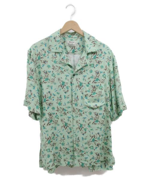 ACNE STUDIOS(アクネステュディオズ)ACNE STUDIOS (アクネステュディオズ) アロハシャツ グリーン サイズ:46の古着・服飾アイテム