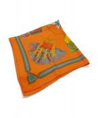 HERMES(エルメス)の古着「カレ90」 オレンジ