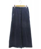 MIHARA YASUHIRO(ミハラヤスヒロ)の古着「ワイドデニムパンツ」|ネイビー