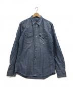 GROUND Y(グラウンドワイ)の古着「デニムシャツ」 ブルー