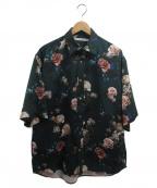 JOHN LAWRENCE SULLIVAN()の古着「総柄Flower S/S Shirt」 グリーン